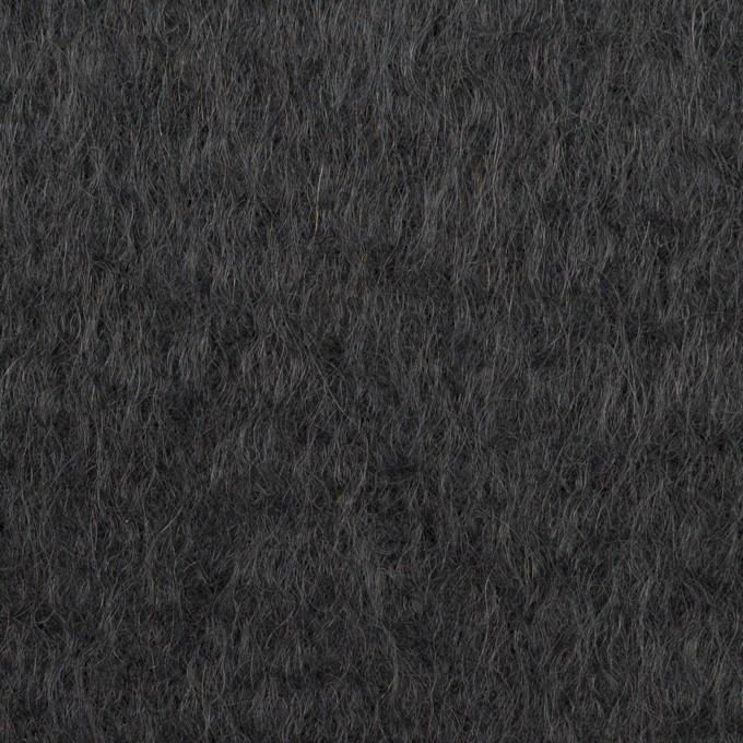 ウール×無地(チャコール)×シャギー イメージ1