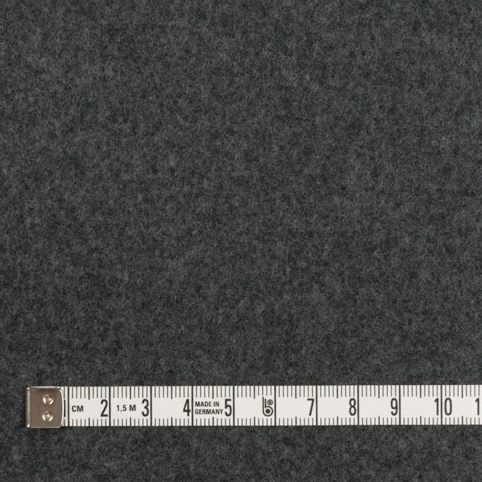 ウール×無地(チャコールグレー&ブラック)×Wフェイスフラノ(フランネル) イメージ4