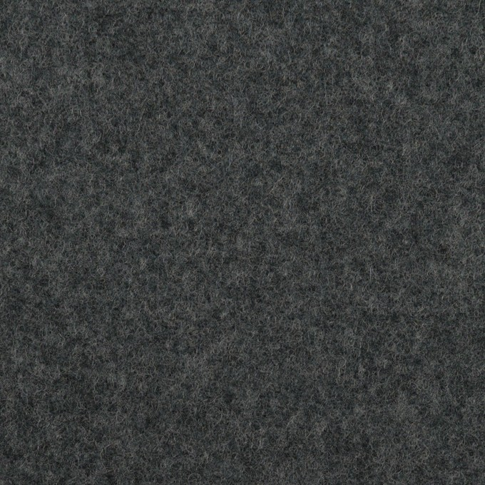 ウール×無地(チャコールグレー&ブラック)×Wフェイスフラノ(フランネル) イメージ1