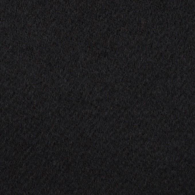 カシミア&ウール×無地(ブラック)×ビーバー イメージ1