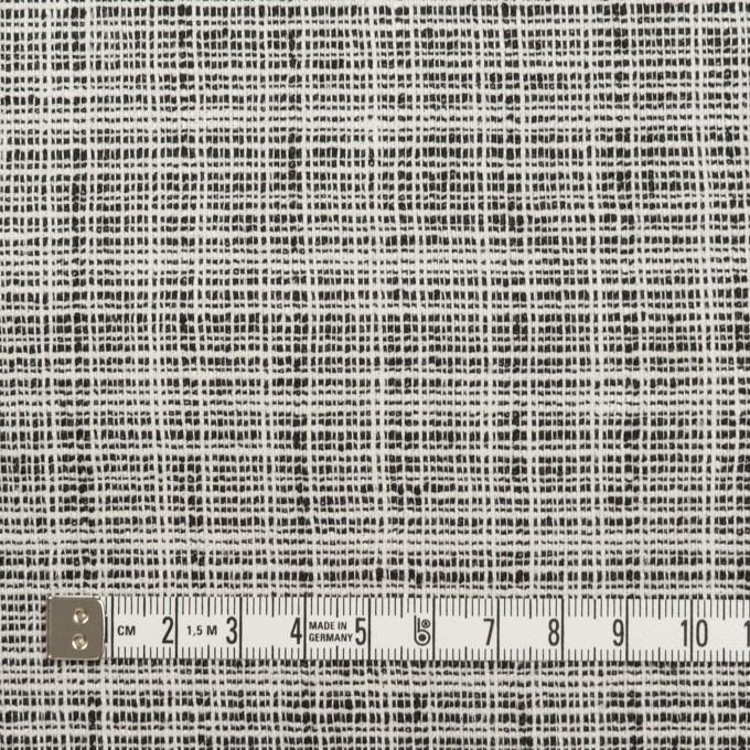 リネン&ポリウレタン×ミックス(オフホワイト&ブラック)×ファンシーツイード・ストレッチ イメージ4