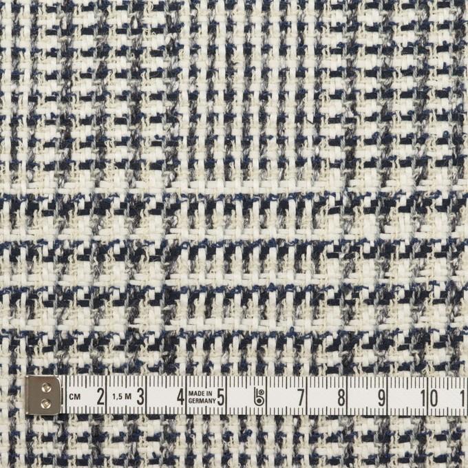 コットン&ウール×チェック(キナリ、ネイビー&グレー)×ファンシーツイード イメージ4