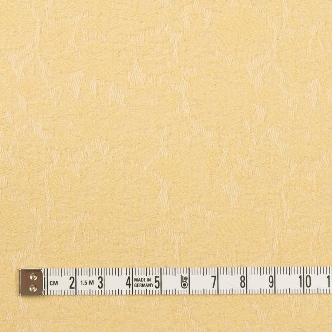 コットン&ポリウレタン×フラワー(カスタード)×ジャガード・ストレッチ イメージ4