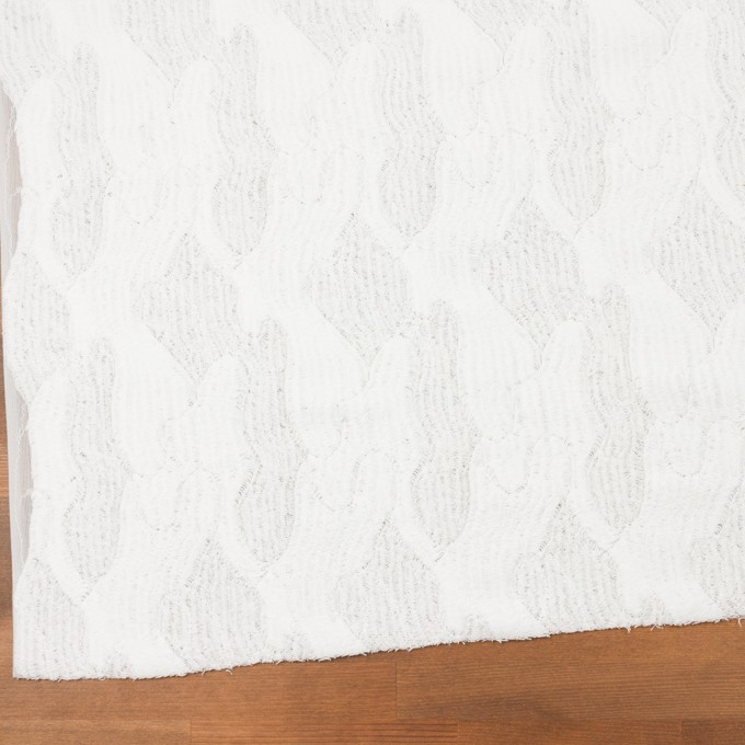 コットン&ナイロン×幾何学模様(ホワイト)×ジャガードニット_全2色 イメージ2