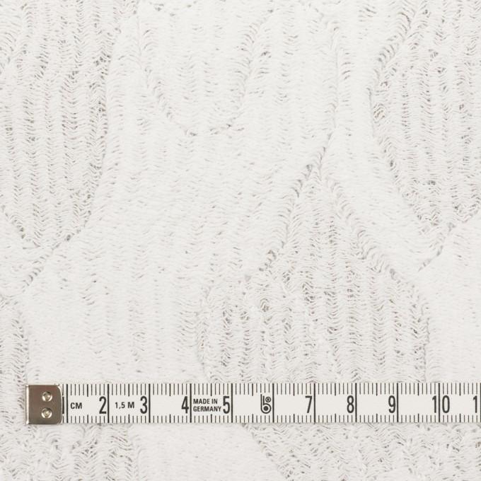 コットン&ナイロン×幾何学模様(ホワイト)×ジャガードニット_全2色 イメージ4