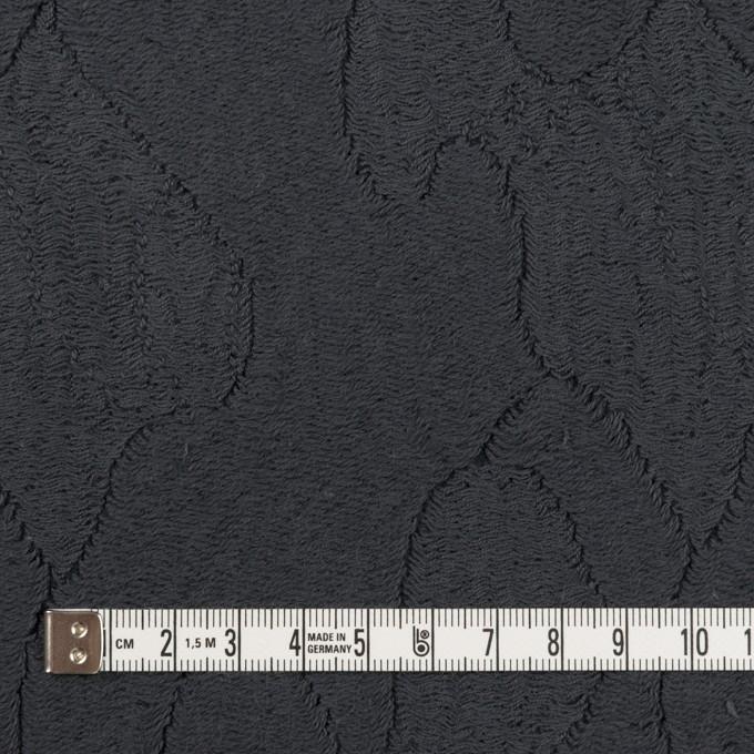 コットン&ナイロン×幾何学模様(チャコール)×ジャガードニット_全2色 イメージ4