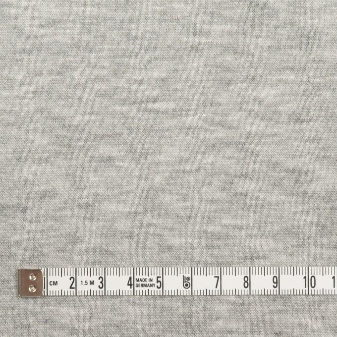 コットン&レーヨン×無地(杢グレー)×裏毛ニット(起毛) イメージ4