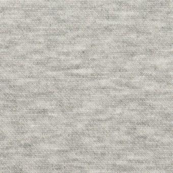 コットン&レーヨン×無地(杢グレー)×裏毛ニット(起毛) サムネイル1