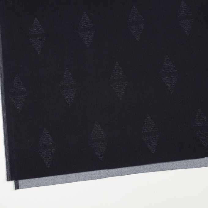 コットン&ポリエステル混×無地(インディゴ)×デニムジャガード・ストレッチ(9.5oz) イメージ2