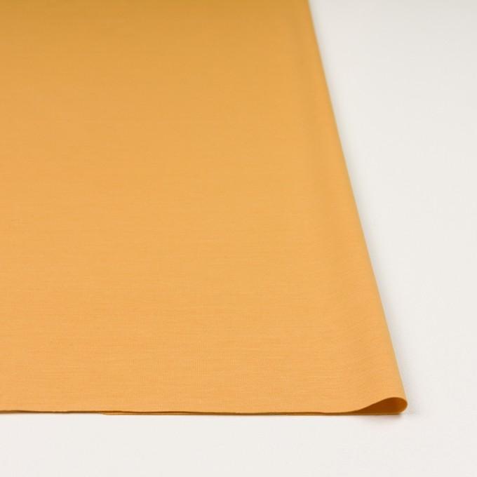 レーヨン&コットン混×無地(マリーゴールド)×スムースニット_全6色 イメージ3