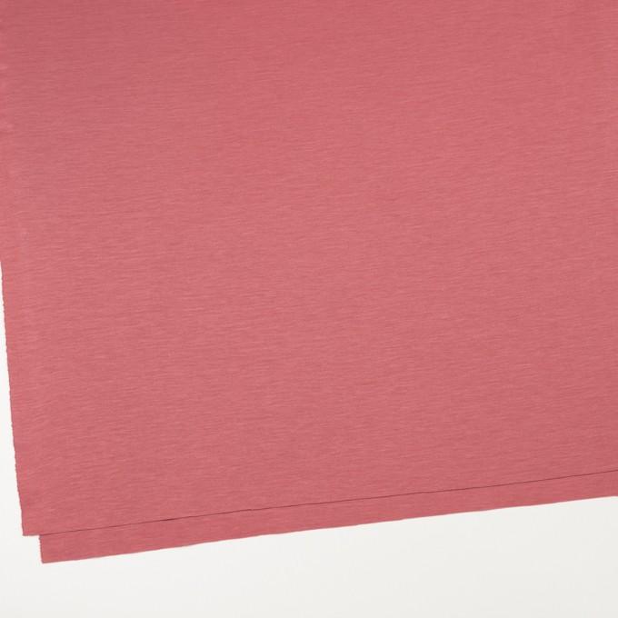 レーヨン&コットン混×無地(コーラルレッド)×スムースニット_全6色 イメージ2