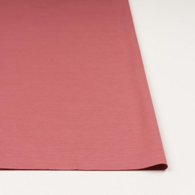 レーヨン&コットン混×無地(コーラルレッド)×スムースニット_全6色 イメージ3