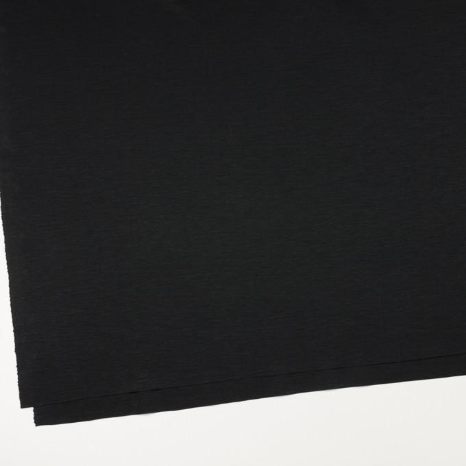 レーヨン&コットン混×無地(ブラック)×スムースニット_全6色 イメージ2