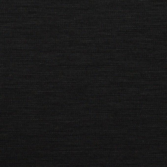 レーヨン&コットン混×無地(ブラック)×スムースニット_全6色 イメージ1