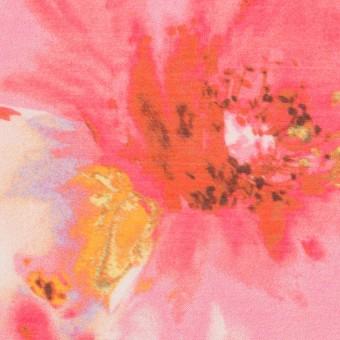 【140cmカット】ポリエステル×フラワー(チェリー)×ソフトオーガンジー_全4色
