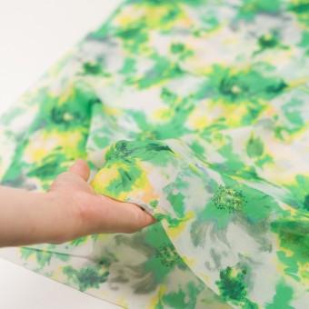 ポリエステル×フラワー(グリーン)×ソフトオーガンジー_全4色 サムネイル5