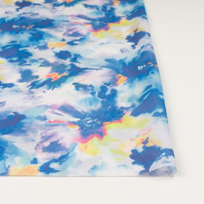 ポリエステル×フラワー(ブルー)×ソフトオーガンジー_全4色 イメージ3