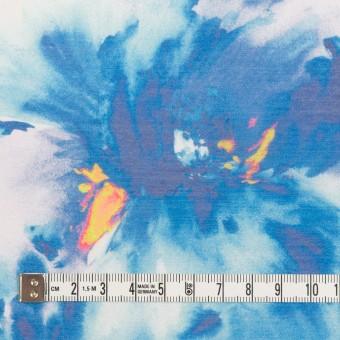 ポリエステル×フラワー(ブルー)×ソフトオーガンジー_全4色 サムネイル4