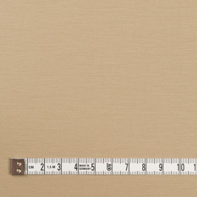 コットン&ポリウレタン×無地(ベージュ)×サージストレッチ イメージ4