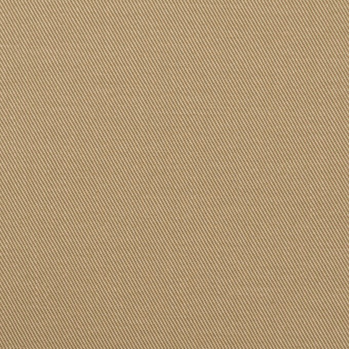 コットン&ポリウレタン×無地(カーキベージュ)×チノクロス・ストレッチ イメージ1
