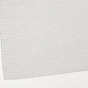 コットン&シルク混×ボーダー(オフホワイト&ダークネイビー)×オーガンジー・ジャガード サムネイル2