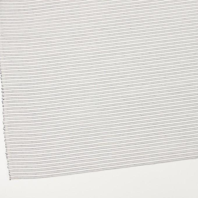 コットン&シルク混×ボーダー(オフホワイト&ダークネイビー)×オーガンジー・ジャガード イメージ2