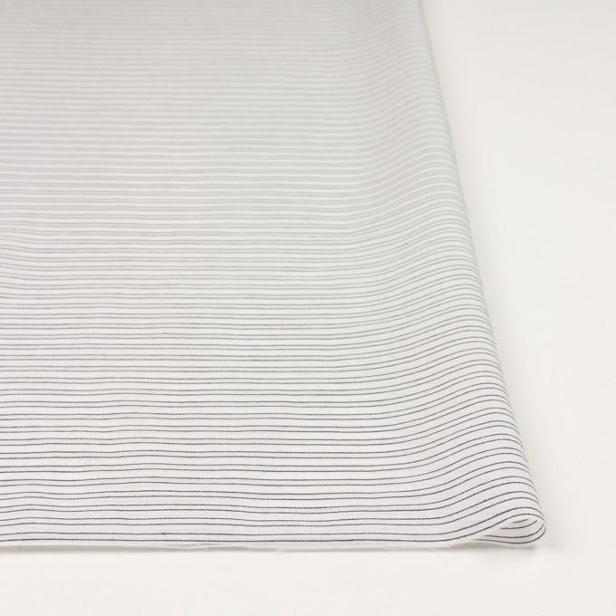 コットン&シルク混×ボーダー(オフホワイト&ダークネイビー)×オーガンジー・ジャガード イメージ3