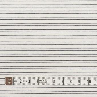 コットン&シルク混×ボーダー(オフホワイト&ダークネイビー)×オーガンジー・ジャガード サムネイル4