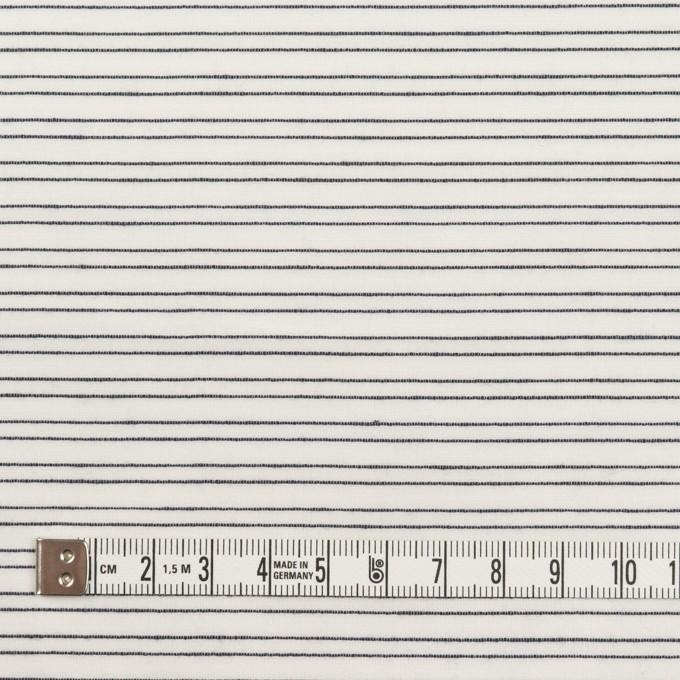 コットン&シルク混×ボーダー(オフホワイト&ダークネイビー)×オーガンジー・ジャガード イメージ4