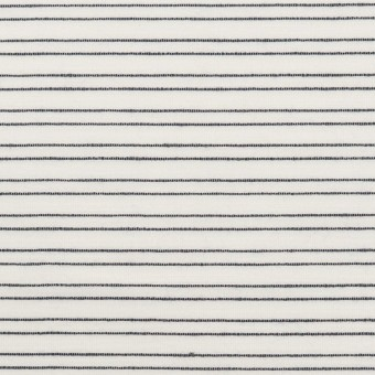 コットン&シルク混×ボーダー(オフホワイト&ダークネイビー)×オーガンジー・ジャガード サムネイル1