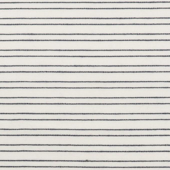 コットン&シルク混×ボーダー(オフホワイト&ダークネイビー)×オーガンジー・ジャガード イメージ1
