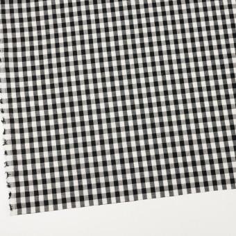 コットン&リネン×チェック(アイボリー&ブラック)×ボイル サムネイル2