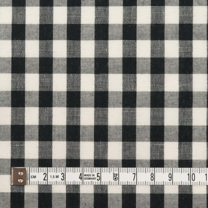 コットン&リネン×チェック(アイボリー&ブラック)×ボイル イメージ4