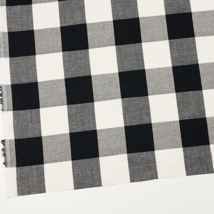 コットン&リネン×チェック(アイボリー&ブラック)×ボイル イメージ2