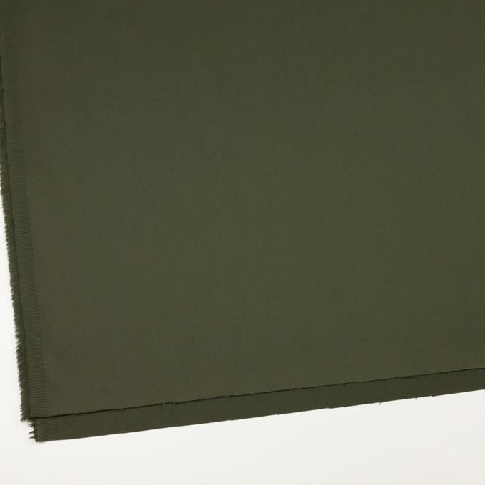 コットン&ポリウレタン×無地(ディープグリーン)×サテンストレッチ イメージ2