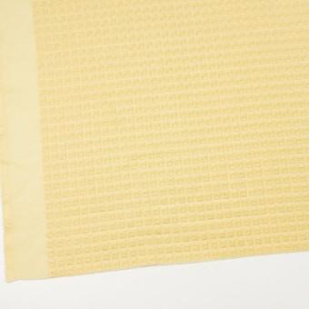 コットン×スクエア(イエロー)×ローン刺繍 サムネイル2