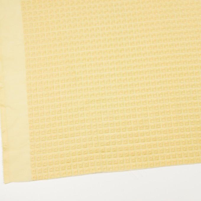 コットン×スクエア(イエロー)×ローン刺繍 イメージ2