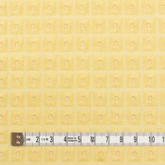 コットン×スクエア(イエロー)×ローン刺繍 サムネイル4