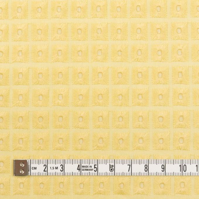コットン×スクエア(イエロー)×ローン刺繍 イメージ4