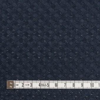 コットン×幾何学模様(ネイビー)×ローン刺繍 サムネイル4