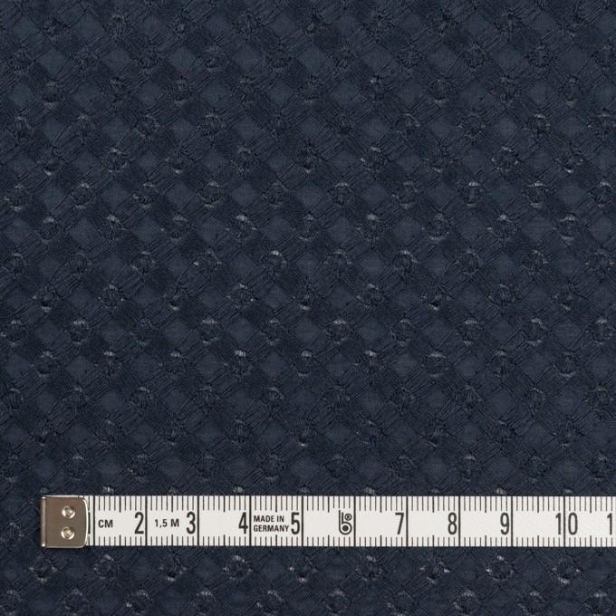 コットン×幾何学模様(ネイビー)×ローン刺繍 イメージ4