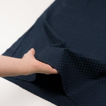 コットン×幾何学模様(ネイビー)×ローン刺繍 サムネイル5