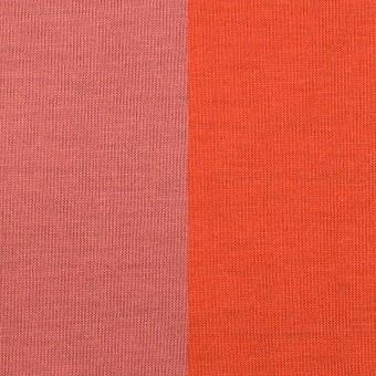 テンセル&ポリエステル×無地(コーラルピンク&パッションオレンジ)×Wフェイス天竺ニット(フォームラミネート加工)_全2色 サムネイル1