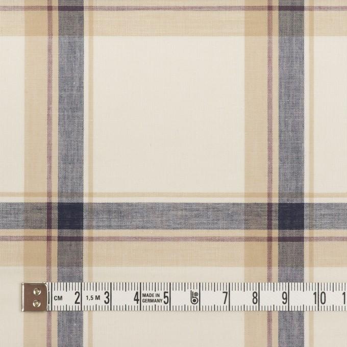 コットン×チェック(ベージュ&ネイビー)×ボイル イメージ4