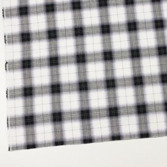 コットン&ナイロン×チェック(ブルーラベンダー&ブラック)×サージワッシャー サムネイル2