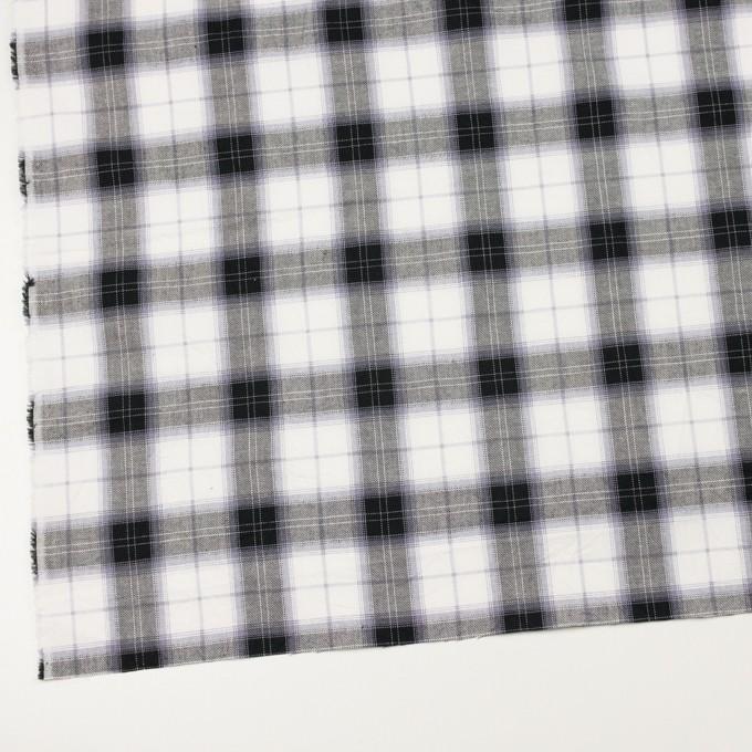 コットン&ナイロン×チェック(ブルーラベンダー&ブラック)×サージワッシャー イメージ2