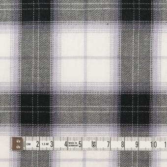 コットン&ナイロン×チェック(ブルーラベンダー&ブラック)×サージワッシャー サムネイル4