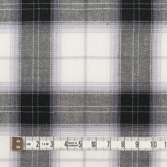 コットン&ナイロン×チェック(ブルーラベンダー&ブラック)×サージワッシャー イメージ4