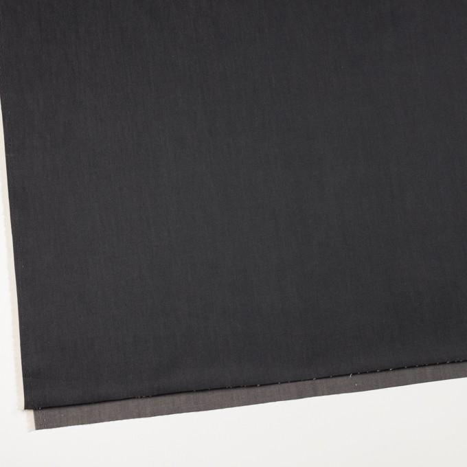 コットン&キュプラ×無地(チャコール)×シャンブレー・ギャバジン_イタリア製 イメージ2