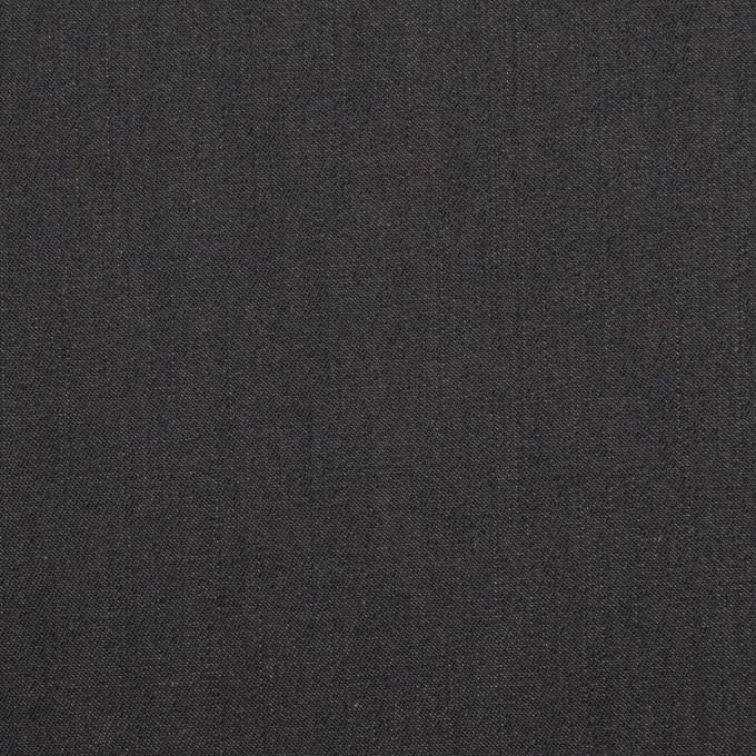 コットン&キュプラ×無地(チャコール)×シャンブレー・ギャバジン_イタリア製 イメージ1